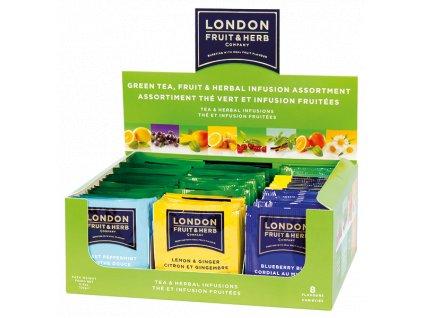 London Fruit & Herb PROMO Green Tea, Fruit & Herb Assortment Display (BBE: 30.8.2021)