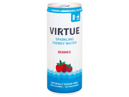 Virtue energetické nápoje PROMO 1+1 Energy water Berries (BBE 27.10.2021)