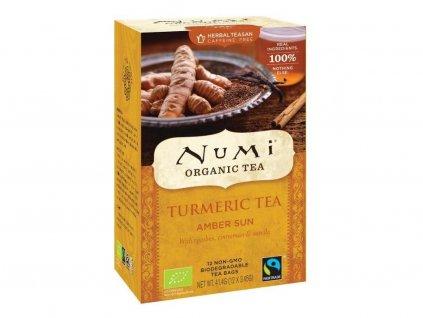 Numi čaj bio kurkumový Amber Sun se skořicí a vanilkou, 12 sáčků, EXP 7/21, Sleva