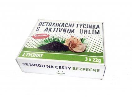 Detoxikační tyčinka s aktivním (aktivovaným) uhlím a vlákninou 3 x 22 g