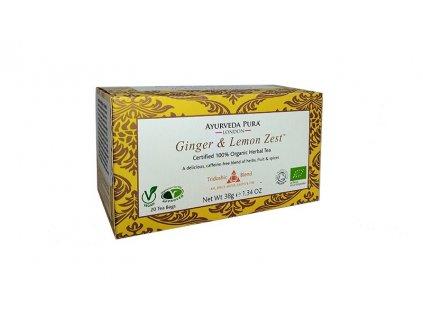 TRIDÓŠA čaj Zázvor + citronová kůra, 20 sáčků