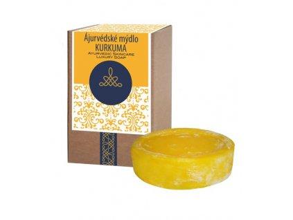 AYURSAVEDA Ájurvédské mýdlo v krabičce KURKUMA, 100 g