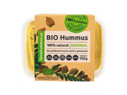 Hummus - cizrnová pomazánka original 150 g BIO I LOVE HUMMUS