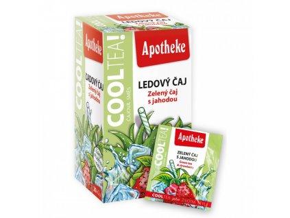 Apotheke Apotheke COOLTEA Zelený čaj s jahodou 20x2g