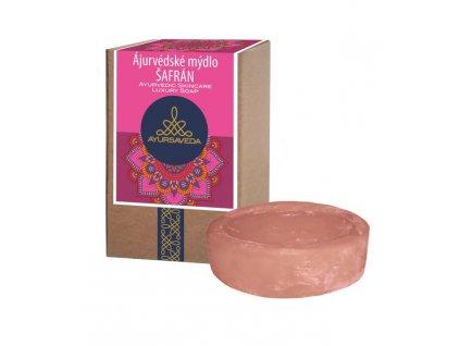 AYURSAVEDA Ájurvédské mýdlo v krabičce ŠAFRÁN, 100 g
