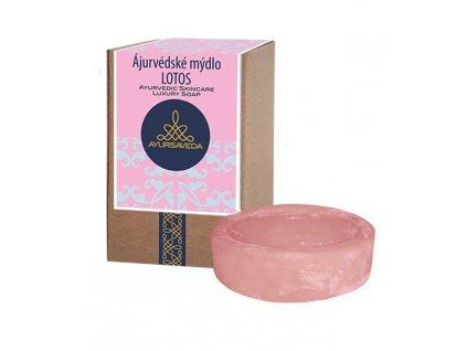 AYURSAVEDA Ájurvédské mýdlo v krabičce LOTOS, 100 g