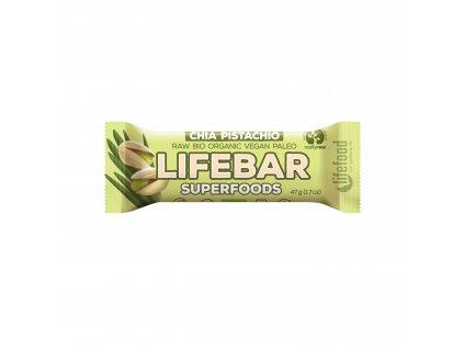 Tyčinka Lifebar chia a pistácie 47 g BIO LIFEFOOD