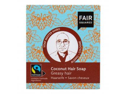 Šampon tuhý na mytí vlasů – kokosový pro mastné vlasy 2x80g FAIR SQUARED