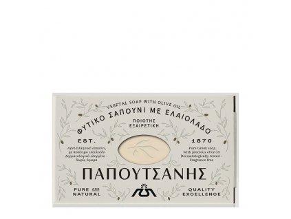 PAPOUTSANIS Tradiční Olivové mýdlo Bílé 125 g