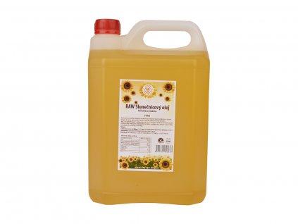 RAW Slunečnicový olej, 750 ml / 5 l, Day Spa 5 l