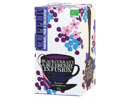 Cupper PROMO Blackcurrant & Blueberry Organic Tea (BBE 2.11.2021)