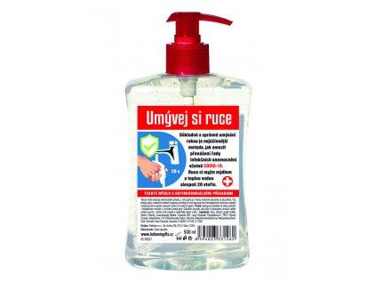 Bohemia Herb Tekuté mýdlo s antimikrobiálními přísadami 500ml s pump