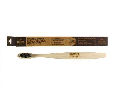 SATTVA Bambusový zubní kartáček střední