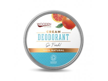 "Přírodní krémový deodorant ""Go Fresh!"" Wooden Spoon 60 ml"