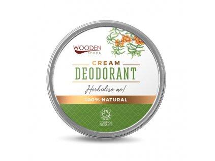 """Přírodní krémový deodorant """"Herbalise Me!"""" Wooden Spoon 60 ml"""