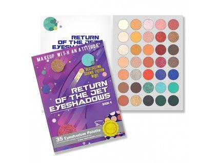 Paletka 35 očních stínů Return of the Jet Book 4 (35 Eyeshadow Palette) 52,5 g