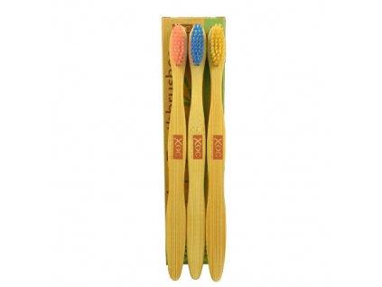 Bambusový zubní kartáček XOC Soft 3 ks