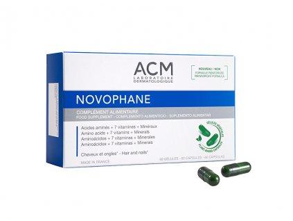 Doplněk stravy pro podporu kvality vlasů a nehtů Novophane 60 kapslí