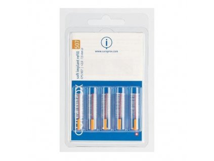 Náhradní mezizubní kartáčky na čištění implantátů Soft Implant Oranžová (Refill) CPS 507 5 ks