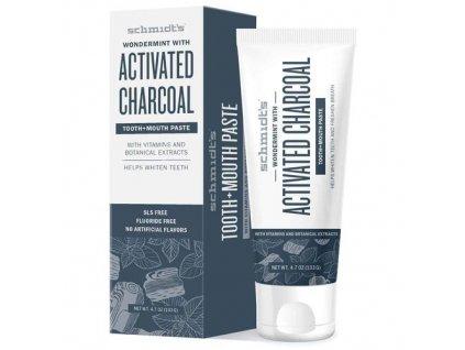 Zubní pasta s aktivním uhlím Active Charcoal + Magnesium (Toothpaste) 100 ml