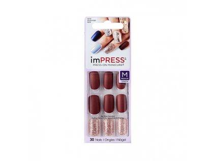 Samolepicí nehty s dekorem imPRESS 71120 střední délka 30 ks