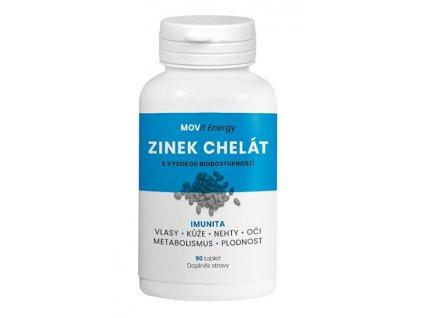 MOVit Zinek Chelát 15 mg, 90 tablet