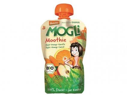 Bio Ovocné pyré Moothie jablko pomeranč mrkev bez cukru 100 g