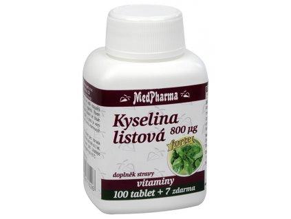 Kyselina listová Forte 800 µg 100 tbl. + 7 tbl. ZDARMA