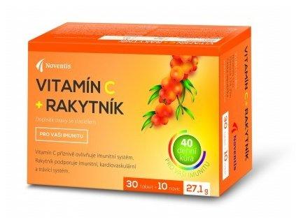 Vitamín C + Rakytník 30 tbl. + 10 tbl. ZDARMA