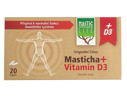 Masticha + vitamín D320 kapslí
