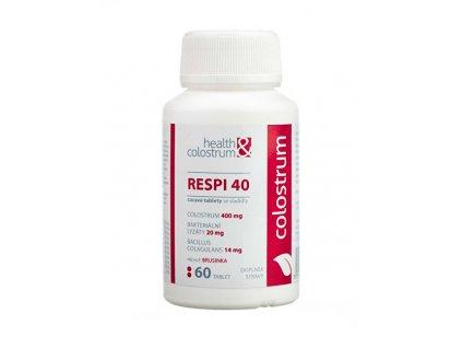 RESPI 40 (400 mg) + bakteriální lyzáty - příchuť brusinka 60 cucavých tbl.