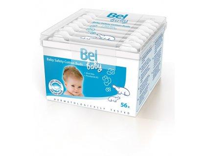 Dětské papírové vatové tyčinky Baby (Safety Cotton Buds) 56 ks