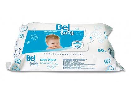Vlhčené ubrousky Baby (Ultrasensitive Baby Wipes) 60 ks