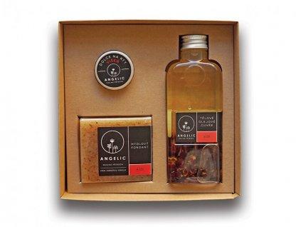 Dárková krabička Angelic tělové olejové cuveé Růže