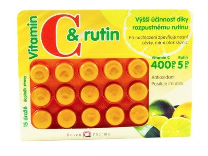 Rosen Vit.C+rutin 400 mg 15 dražé