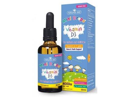Vitamin D3 kapky pro děti (400iu) – 50 ml