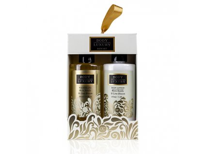 Dárková sada do koupele Body Luxury Warm Vanilla & Lime Blossom (Bath Set)