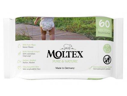 EKO vlhčené ubrousky Moltex Pure & Nature na bázi vody 60 ks