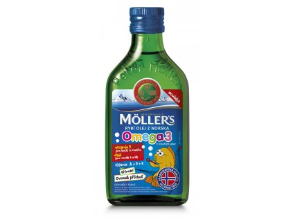 Möller`s rybí olej z tresčích jater z Norska s přírodní ovocnou příchutí 250 ml