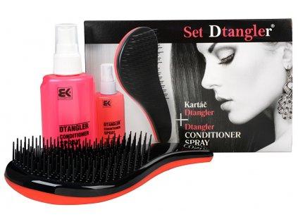 Sada na úpravu vlasů Rozčesávací sprej + hřeben červený