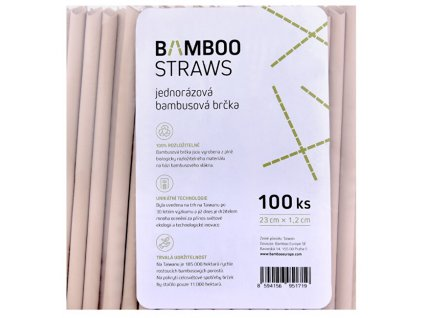 Bambusové brčko 12 mm x 23 mm bag 100 ks