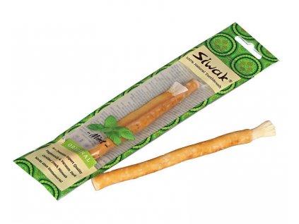 Přírodní zubní kartáček s příchutí máty