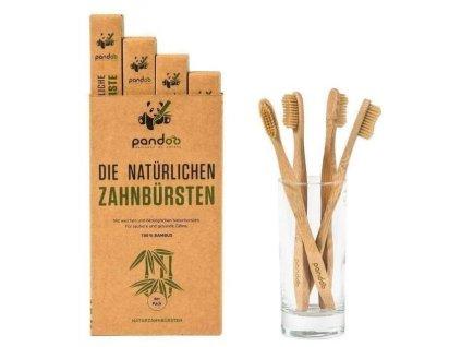 Bambusové zubní kartáčky Medium Soft - výhodné balení 4 ks