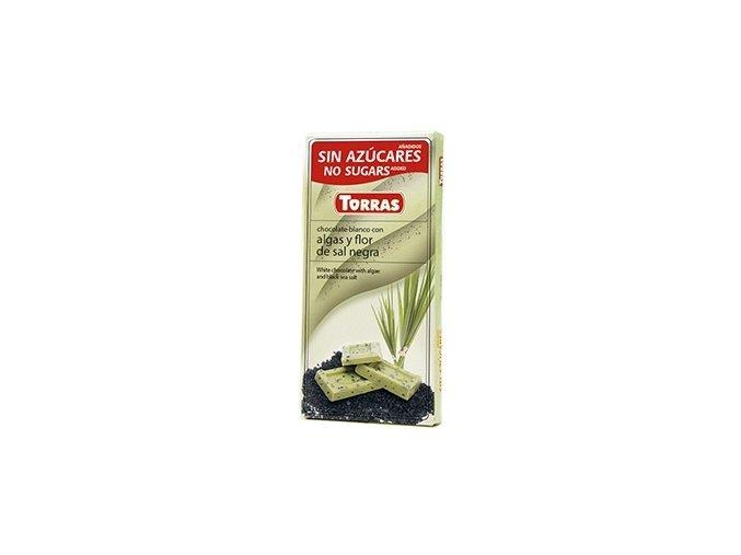 Torras čokolada s chlorelou a černou mořskou solí 75g
