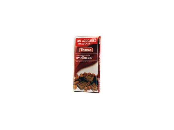 Torras čokolada mléčná s lískovým ořechem 75g