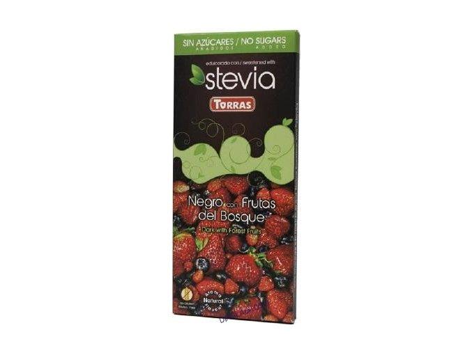 Torras čokolada stevie s lesním ovocem 125g