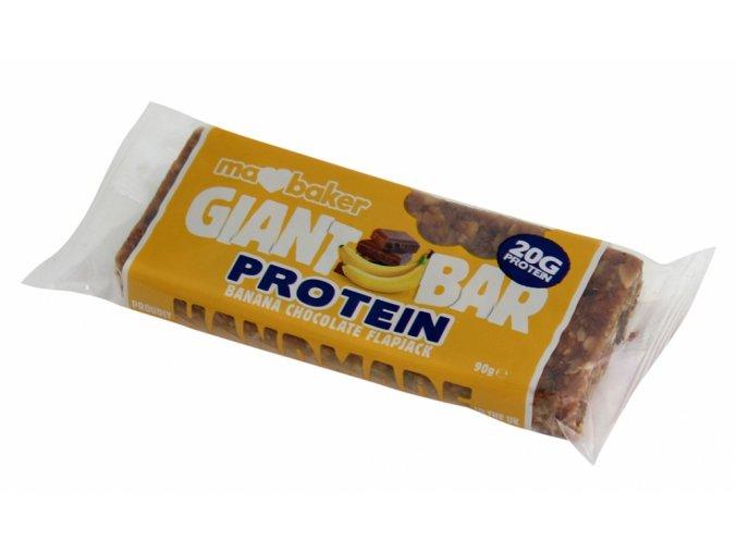 Marksman Protein flapjack banán v čokoládě 90g Ma Baker