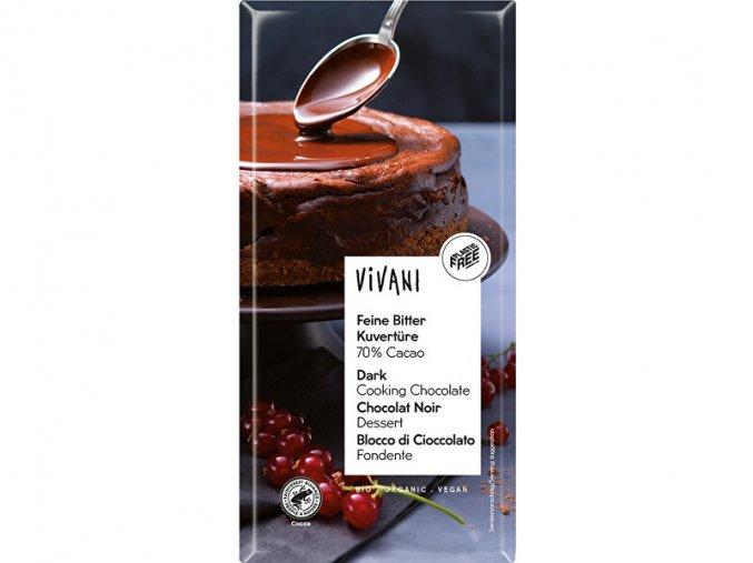 bio nebio s.r.o. VIVANI hořká čokoláda na vaření 200g