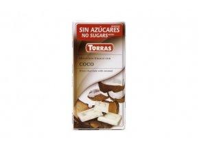 Torras čokolada bílá s kokosem 75g