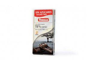 Torras čokolada 72% 75g